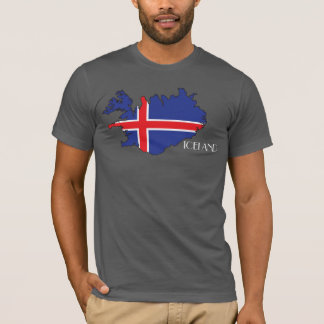 Iceland Flag-Map Shirt