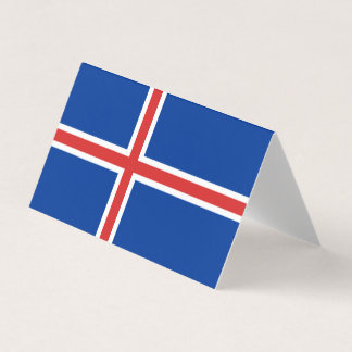 Iceland Flag Place Card