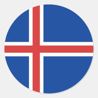 Iceland Flag Round Sticker