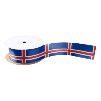 Iceland Flag Satin Ribbon