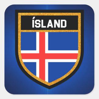 Iceland Flag Square Sticker