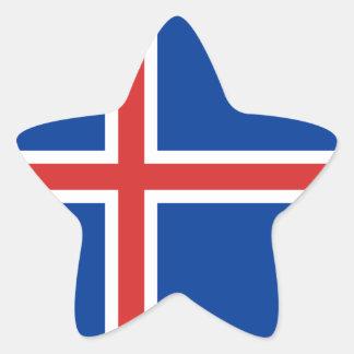 Iceland Flag Star Sticker