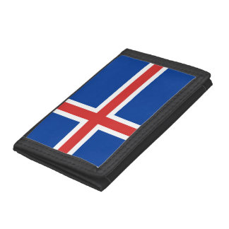 Iceland Flag Trifold Wallets