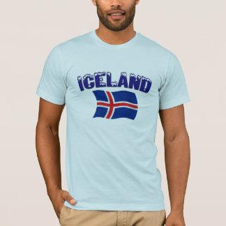 Iceland Flag (w/inscription) T-Shirt