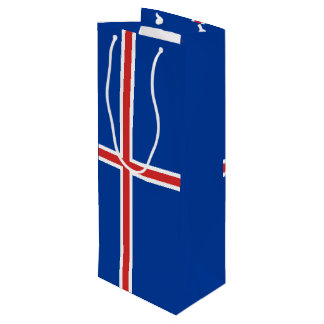 Iceland Flag Wine Gift Bag