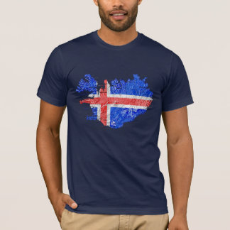 Iceland Flagcolor Map T-Shirt