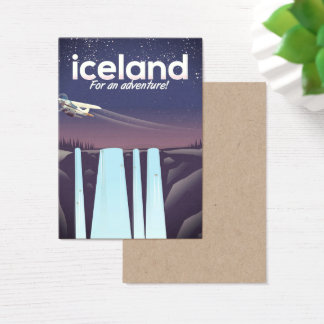 """Iceland """" For an adventure!' Business Card"""