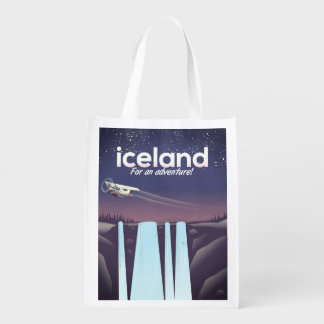 "Iceland "" For an adventure!' Reusable Grocery Bag"
