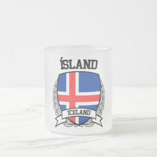 Iceland Frosted Glass Coffee Mug