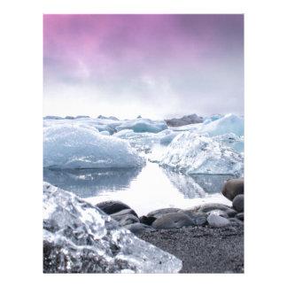 Iceland Glacier Lagoon Letterhead Template