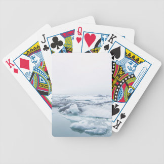 Iceland Glaciers - White Bicycle Playing Cards