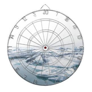 Iceland Glaciers - White Dartboard
