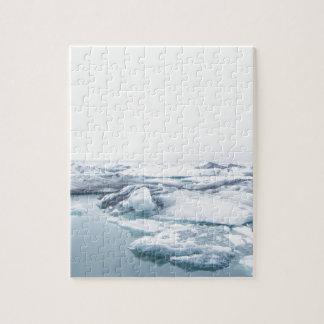 Iceland Glaciers - White Jigsaw Puzzle