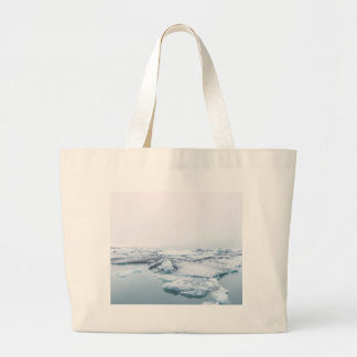 Iceland Glaciers - White Large Tote Bag