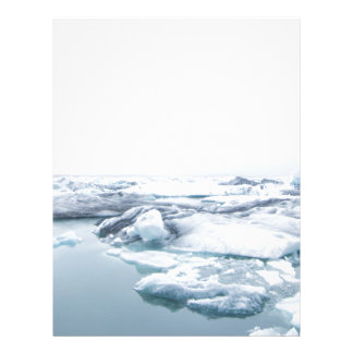 Iceland Glaciers - White Letterhead
