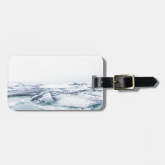 Iceland Glaciers - White Luggage Tag