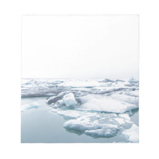 Iceland Glaciers - White Notepad