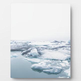 Iceland Glaciers - White Plaque
