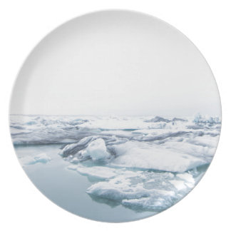 Iceland Glaciers - White Plate
