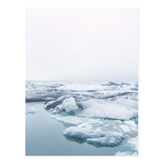 Iceland Glaciers - White Postcard