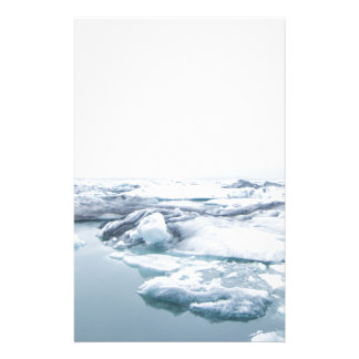 Iceland Glaciers - White Stationery