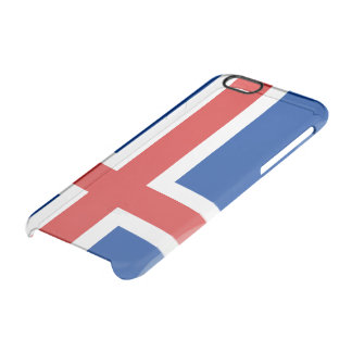 Iceland glossy flag clear iPhone 6/6S case