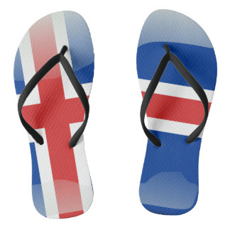 Iceland glossy flag flip flops
