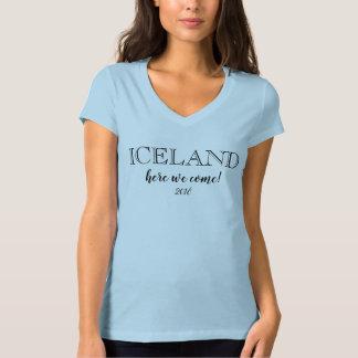 ICELAND group travel trip 2018 tshirt light blue