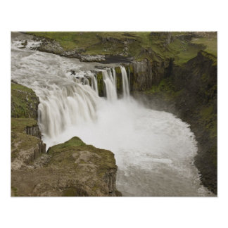 Iceland. Hafragilsfoss waterfall in Poster