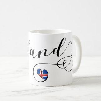 Iceland Heart Mug, Icelandic Coffee Mug