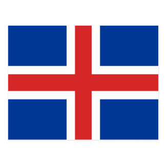 Iceland High quality Flag Postcard