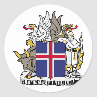 Iceland, Iceland Classic Round Sticker