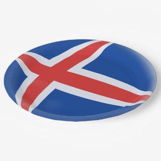 Iceland Icelandic Flag Paper Plate