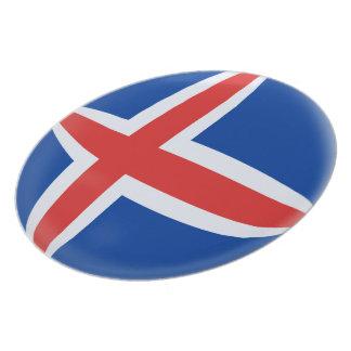 Iceland Icelandic Flag Plate