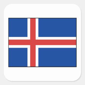 Iceland – Icelandic National Flag Square Sticker