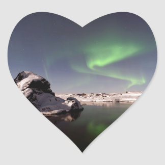 Iceland in Winter Heart Sticker