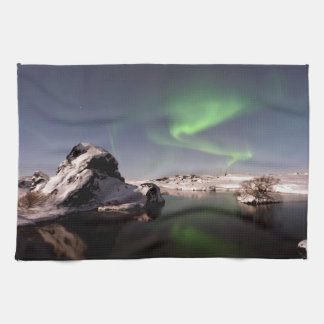 Iceland in Winter Kitchen Towel