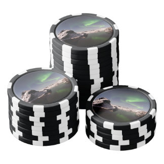 Iceland in Winter Poker Chips