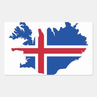 Iceland IS Ísland Flag map