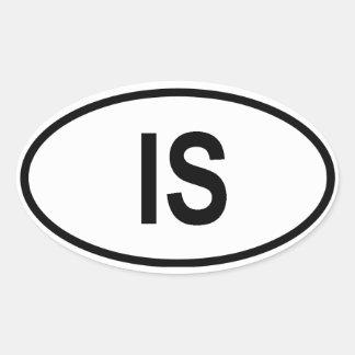 "Iceland ""IS"" Oval Sticker"