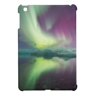 Iceland, Jokulsarlon. Aurora Lights Reflect iPad Mini Cover