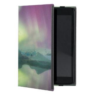 Iceland, Jokulsarlon. Aurora Lights Reflect iPad Mini Covers