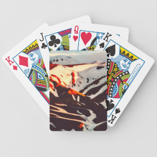 iceland landscape mountains snow bicycle playing cards