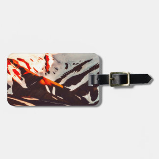 iceland landscape mountains snow luggage tag