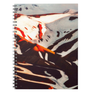 iceland landscape mountains snow notebooks