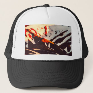 iceland landscape mountains snow trucker hat