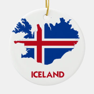 ICELAND MAP CERAMIC ORNAMENT