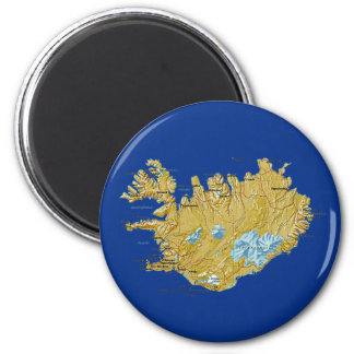 Iceland Map Magnet