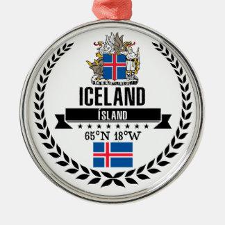 Iceland Metal Ornament