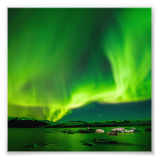 Iceland Northern Lights Photographic Print